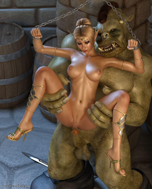 Монстры порно эльфийка