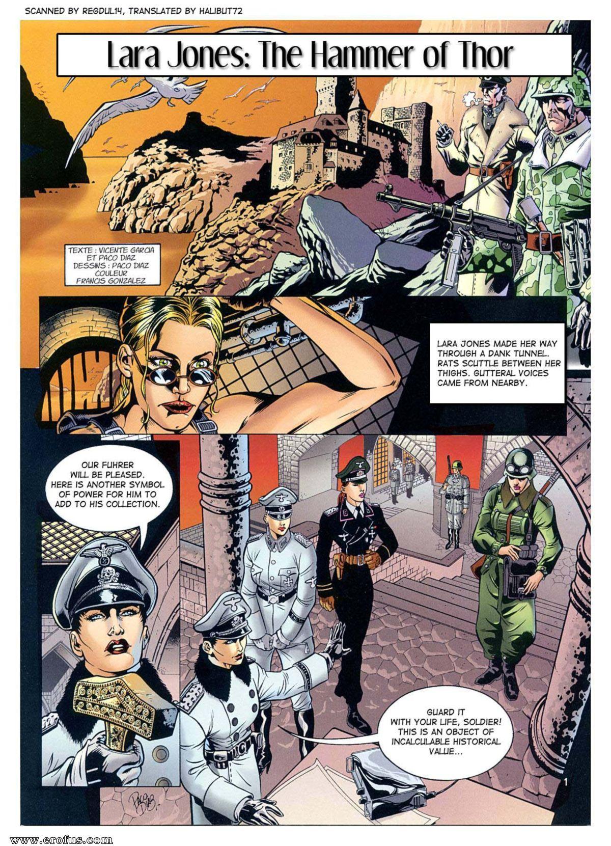 Lara jones the hammer of thor various authors cartoon