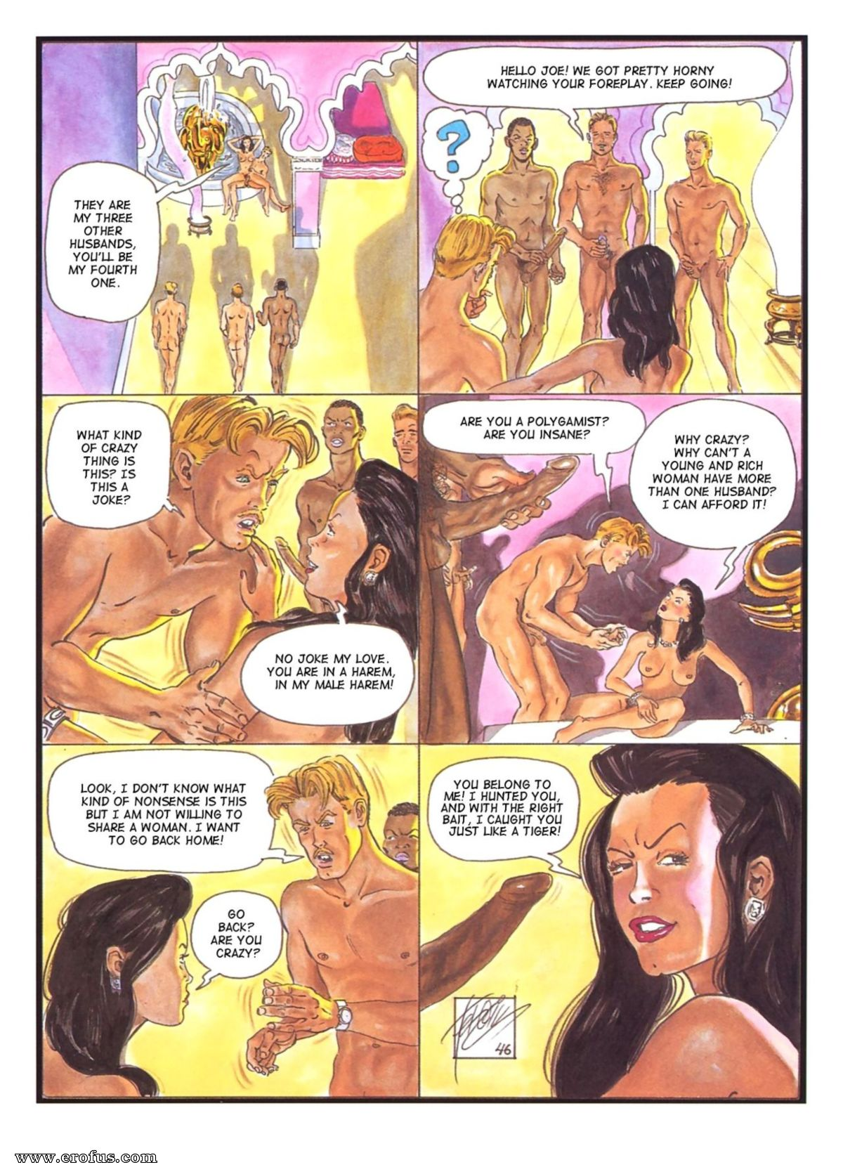 Adult comics ferocious
