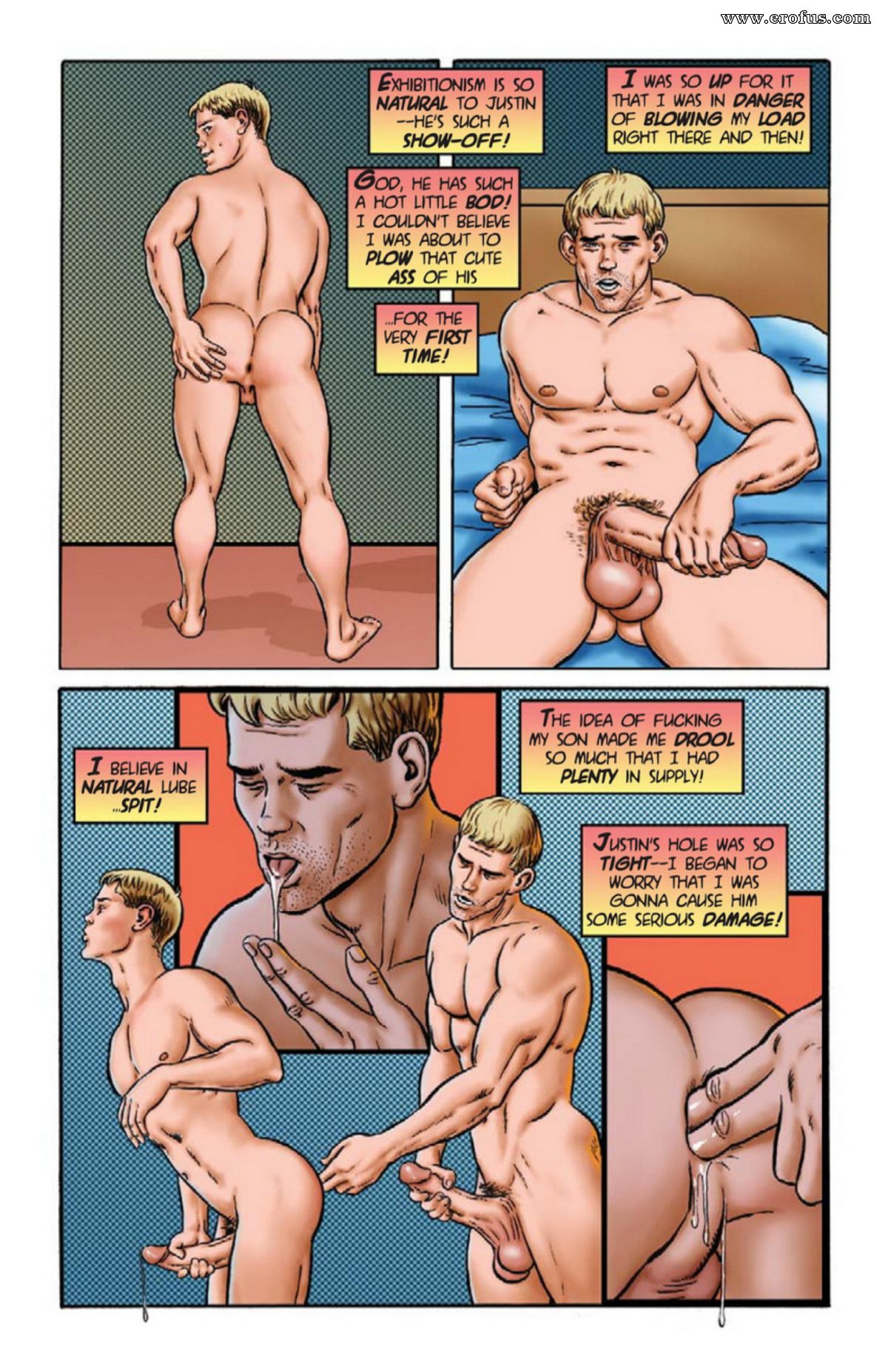 Порно Геи Комикс Непослушный Сын