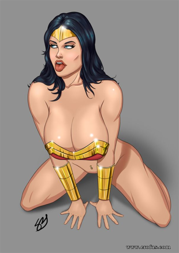 Amazing art of wonder woman preparing to swim in the ocean ofcourse naked