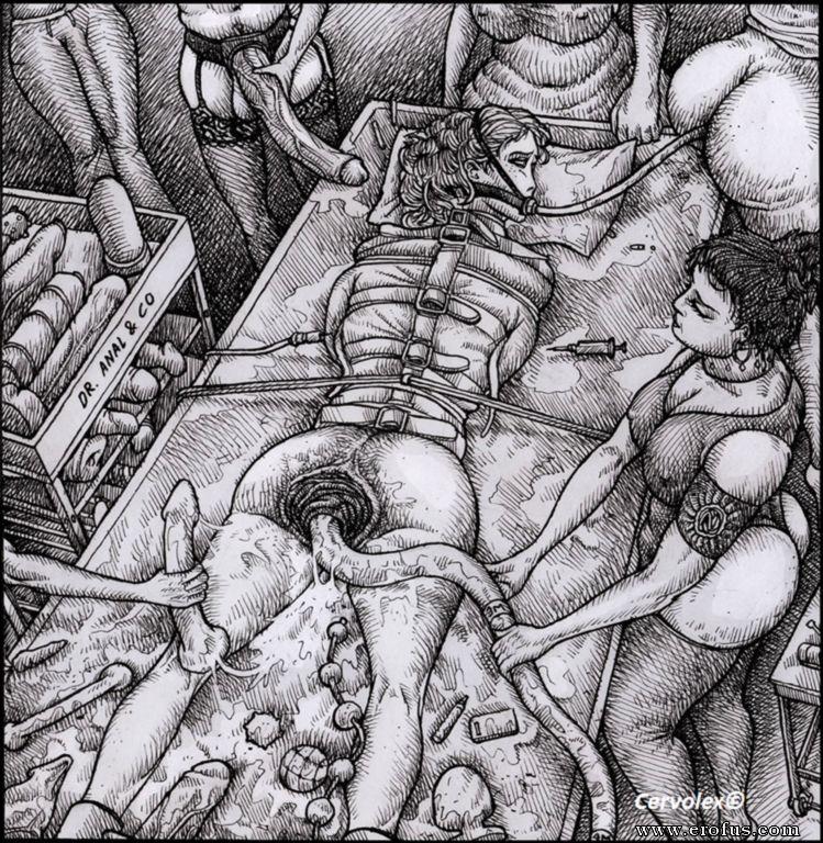 Brutal bdsm drawings