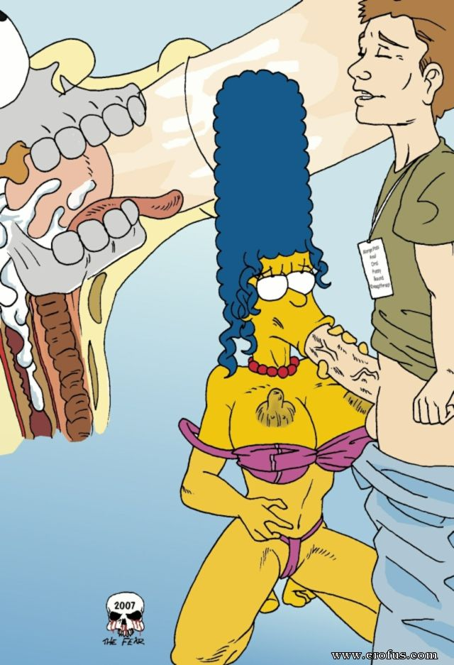 Homer simpson fucked marge's pussy and boobs