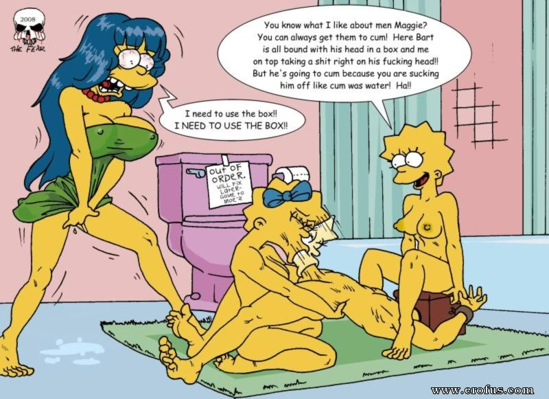 Cartoon simpsons bart maggie porno