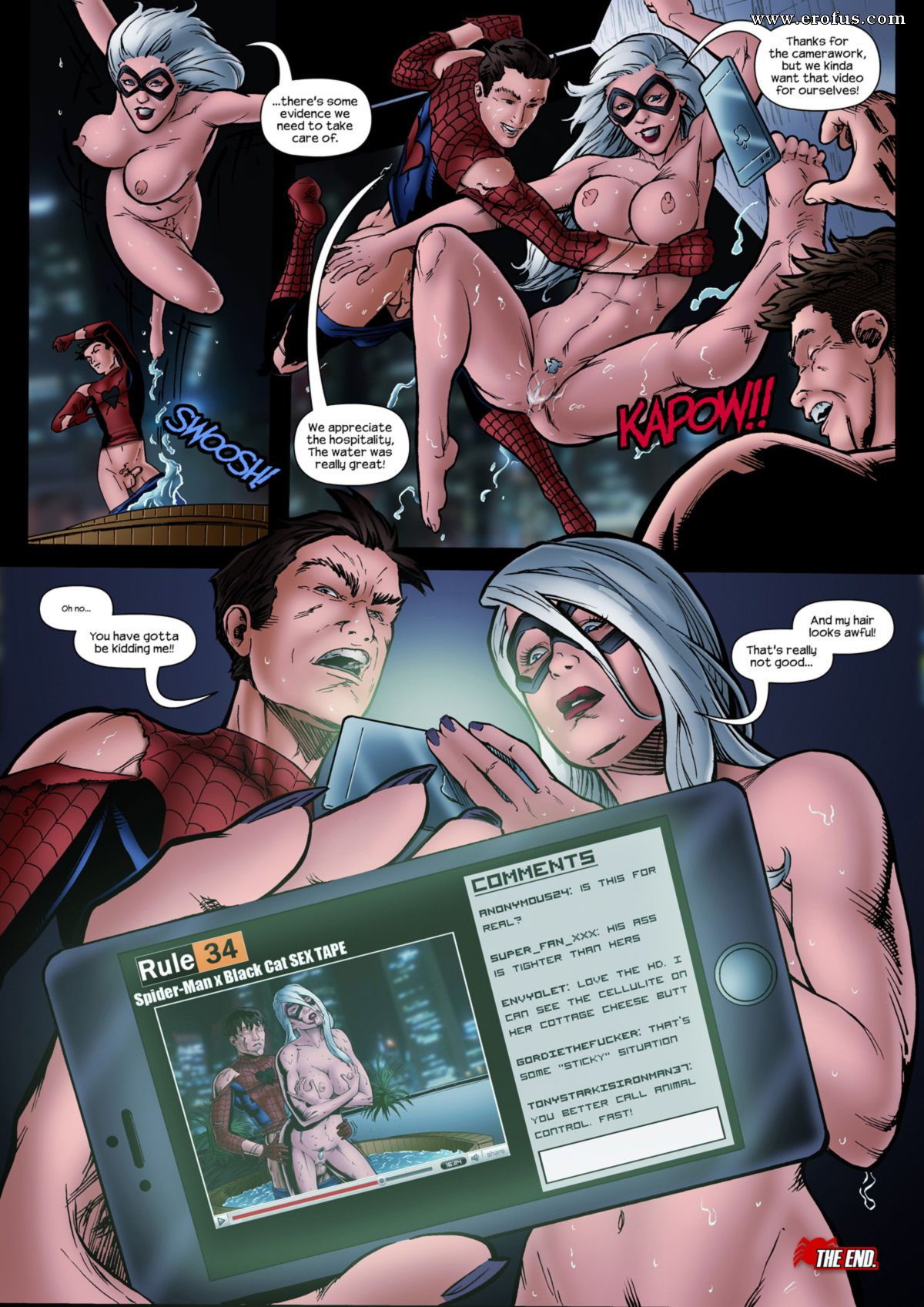 Black and spiderman sex — photo 8