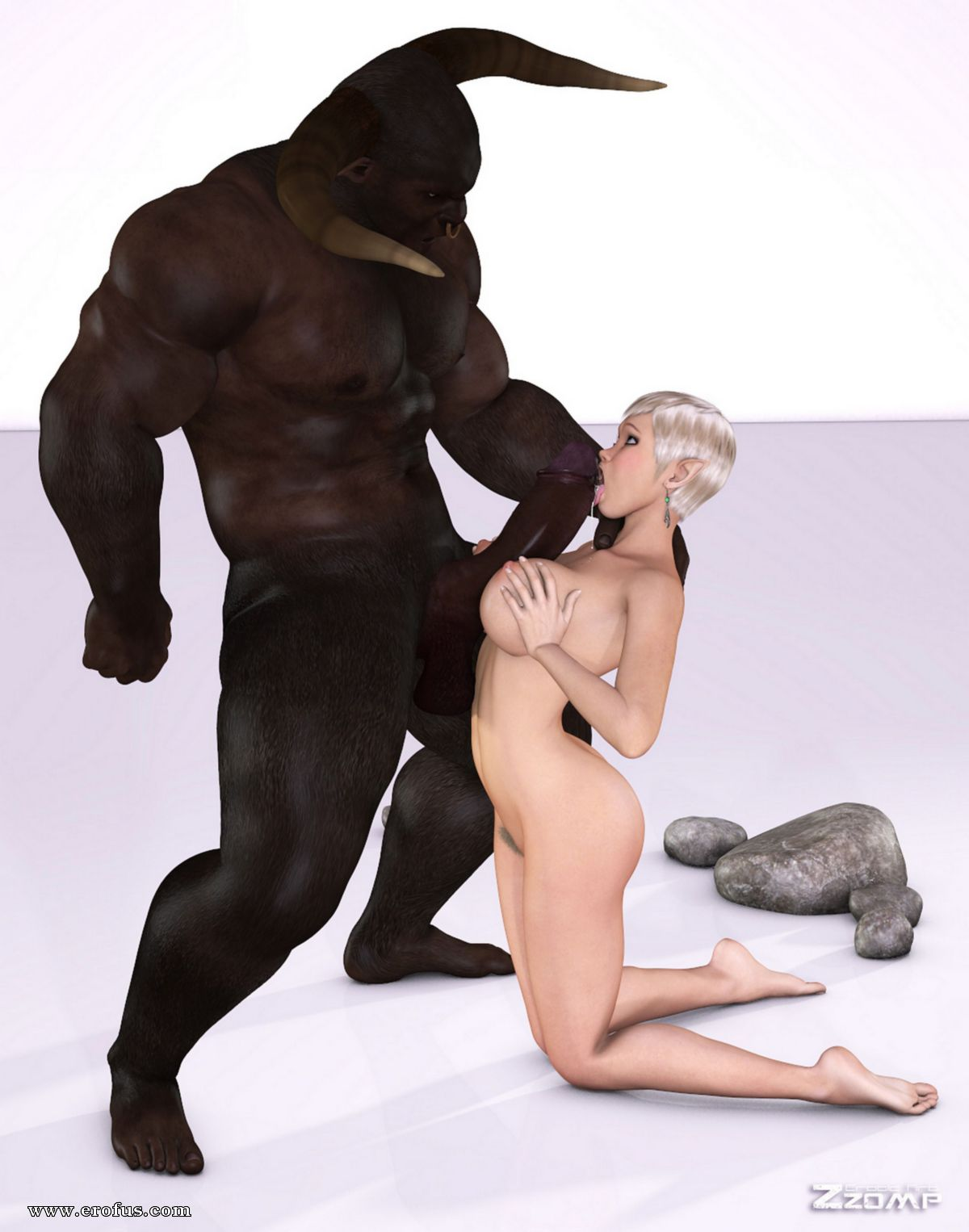 Mature white woman is in love with her black bull