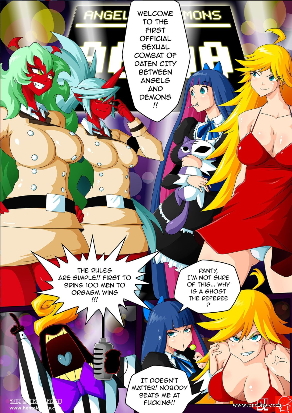 Angels And Demons Full Porn Animation page 2 | palcomix-comics/panty-and-stocking-angels-vs-demons