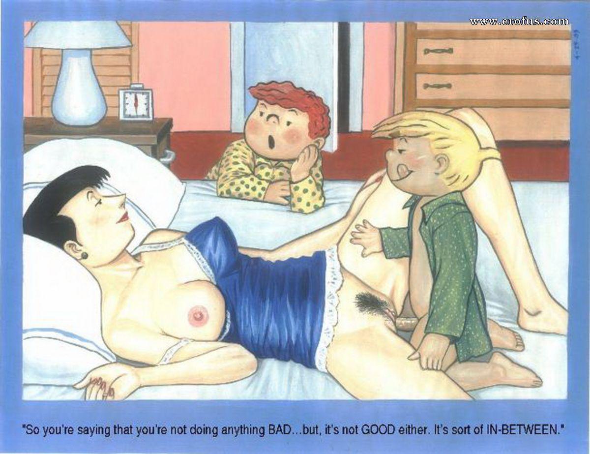 Рисованный порно инцест в картинках, Лучшее порно фото инцеста 1 фотография
