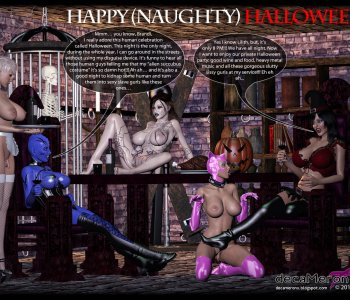 Happy Halloween - Lilith and Brandi sissy sluts party