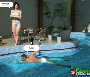 Seduced mom in the pool