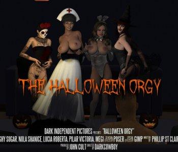 Halloween sex orgie
